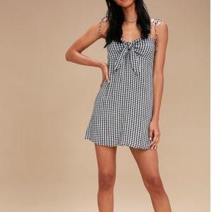 NWOT Gingham Mini Dress
